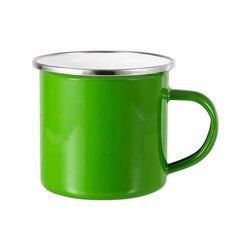 Kubek metalowy zielony
